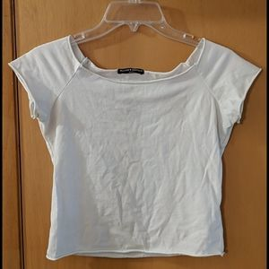 Brandy Melville Crop Top T-Shirt White One Size